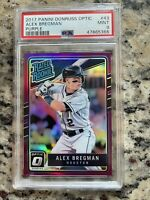 Alex Bregman Rookie Card 2017 Panini Donruss Optic Purple #43 PSA 9