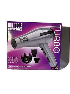 New! Hot Tools Helix Turbo Ionic Tourmaline Salon Dryer -Silver/Grey