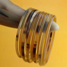 5pc Natural Yak Horn Thin Bracelet Ethnic Bangle Health Care Women Unisex New