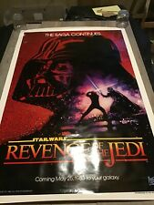 REVENGE OF THE JEDI Original Movie Poster RARE TEASER