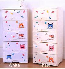 Storage Drawer Cabinet Baby Children Toy Organizer DIY Wardrobe 4 Layer Large