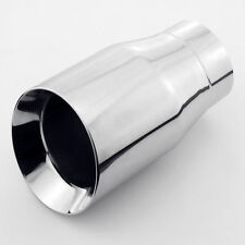 "3"" inlet exhaust tip muffler slanted round 7"" length 4"" outlet Stainless steel"