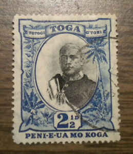 British Oceania: Tonga - # 42a - issued from 1897 - Cancelled  Hinged