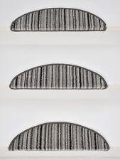 15er Set luxuriöse KLEINE Stufenmatten Kräuselvelours LINEA anthrazit 56x16x4 cm