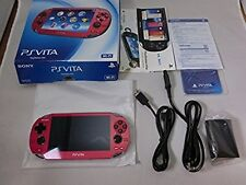 PlayStation PS VITA Console Wi-Fi Model Red PCH-1000 ZA03 Japan Mint Condition