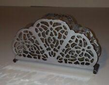 Irvinware Napkin Holder Metal Cut Ouf Floral Scalloped Tableware Vintage Home