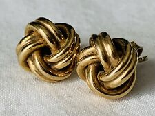 PAIR 9CT GOLD KNOT DESIGN EARRINGS