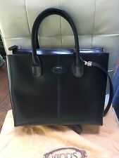 Tods Original D Bag  Princess Diana Black Leather Tote Shoulder Handbag Bag