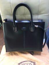 Tods Original D Bag  Princess Diana Black Leather Tote Shoulder Handbag Bag