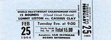 1964 Cassiuss Clay Pass Ticket Vs Sonny Liston Closed Circuit TV Proof Boston