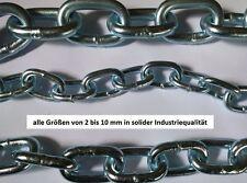 Profi Stahlkette Eisenkette in Industriequalität Meterware verzinkt 2 - 10 mm m