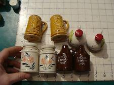 vintage Salt & Pepper: 4 sets, Busch Gardens, Little Brown Jug, Milk cans, etc