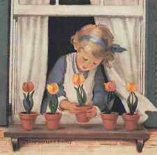 A4 Photo Willcox Smith Good Housekeeping Potting tulips Print Poster