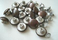 20 Stück Nieten Knöpfe aus Metall - Ø 17 mm - Altkupfer