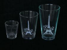 Eiffel Tower Glasses - Etched Glassware Paris Eiffel Tower