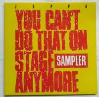 """FRANK ZAPPA-1988-12"""" DoLP Vinyl ⚠️You can't do that on stage anymore-   ZAPPA 7"""