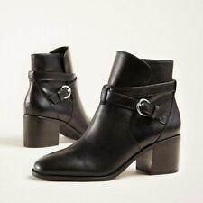 Ann Taylor Women's Black Posey Leather Block Heel  7 ,8 ,8.5