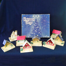 1940s Dolly Toy Usa Christmas Putz Village in Original Box