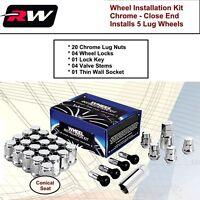 C1709BL34 Wheel Lug Kit Black Lug Nuts M14x1.5 fit Jeep Grand Cherokee 11-19
