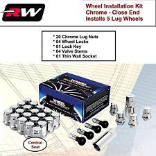 (1) Wheel Installation Kit M14x1.5 Chrome Acorn fit Chevy Camaro 2010-2019