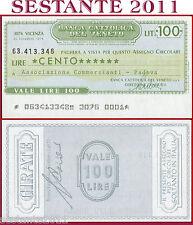 BANCA CATTOLICA DEL VENETO Lire 100 21.12. 1976 ASSOC. COMMERCIANTI  PADOVA B120