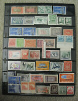 Vintage Lot with Double Sided Sheet Postage Stamps Chile Israel Many Others