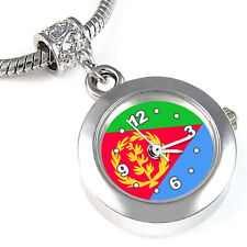 Eritrea Country Flag Silver European Spacer Charm Bead Watch For Bracelet EBA258