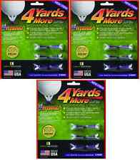4 Yards More Tees 3x Six Pack Hybrid / Iron 1 inch 18 tees Four Yards Longer!