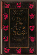 Anthony Quogan, Fine Art of Murder, Review Copy, 1st Ed 1988, in Original D/W