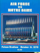 1978 Notre Dame vs Air Force Program: Joe Montana
