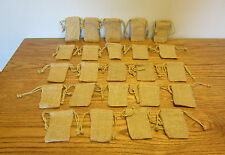 "24 BURLAP JUTE SACKS WITH DRAWSTRINGS 3"" BY 5"" WEDDING PARTY FAVOR BAGS GIFT BAG"