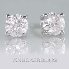 18 Carat White Gold VVS1 Fine Diamond Earrings