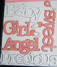 BABY GIRL DISTRESSED OUT  WOODEN WORDS WE R MEMORY KEEPERS