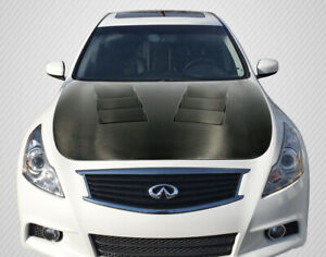 07-13 Fits Infiniti G Sedan TS-1 DriTech Carbon Fiber Body Kit- Hood!!! 112965