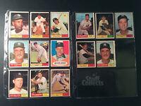 1961 Topps NY Yankees 14 Baseball Card Lot Berra Jim Coates Ditmar Set Break