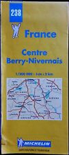 MICHELIN FRANCE 2000 COLOURED PAPER MAP of BERRY-NIVERNAIS No 238 1:200 000