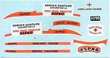 SALZA Camion Sanitaire  ASPRO TOUR DE FRANCE transfert / transfer décalcomanie