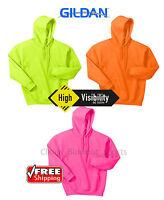 Gildan Heavy Blend Hooded Sweatshirt SAFETY VISIBILITY ANSI Work Bright 18500