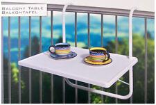 Tavolino da ringhiera balcone altezza regolabile tavolo appoggio tazze 53x40 cm