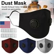 1/4x Anti-fog PM2.5  Valve Face Mask Muffle Activated Carbon Filter Respirator