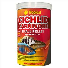 Tropical Cichlid Carnivore 1000ml 360g Small 2mm Pellet Fish Food