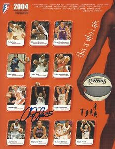 CHERYL FORD AUTOGRAPHED 2004 WNBA COLLECTORS EDITION GAME PROGRAM CARD #5 OF 17