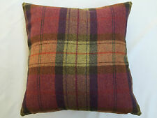 100% Wool Plaid Fruit Salad By Art Of The Loom Cushion Cover 42 x 42cm
