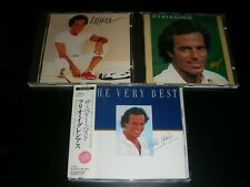 3 CD Lot Julio Iglesias Libra Hey The very best Japan 25-8p-5266 + Holland