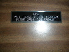 KISS NAMEPLATE FOR SIGNED PHOTO/MEMORABILIA