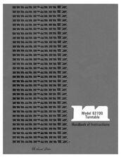 Marantz 6270Q Turntable Owners Instruction Manual