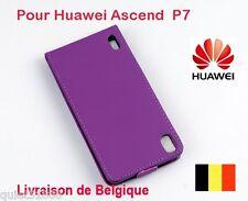 Top Qualite Flip Cuir COQUE HOUSSE ETUI POUR Huawei Ascend P7  X 1PCS Pourpre