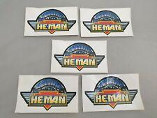5x Vintage Getting into He-Man Sticker / 5 Stück: HeMan Aufkleber