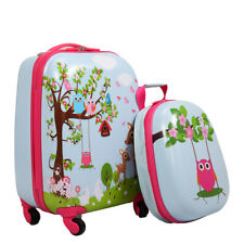 Kids Luggage- 2PCS- Children Carry On Suitcase Rolling Backpack Travel Set