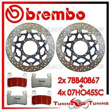 Dischi Freno Anteriore BREMBO+Pastiglie BREMBO SC per HONDA CBR 600 RR 2003 2004